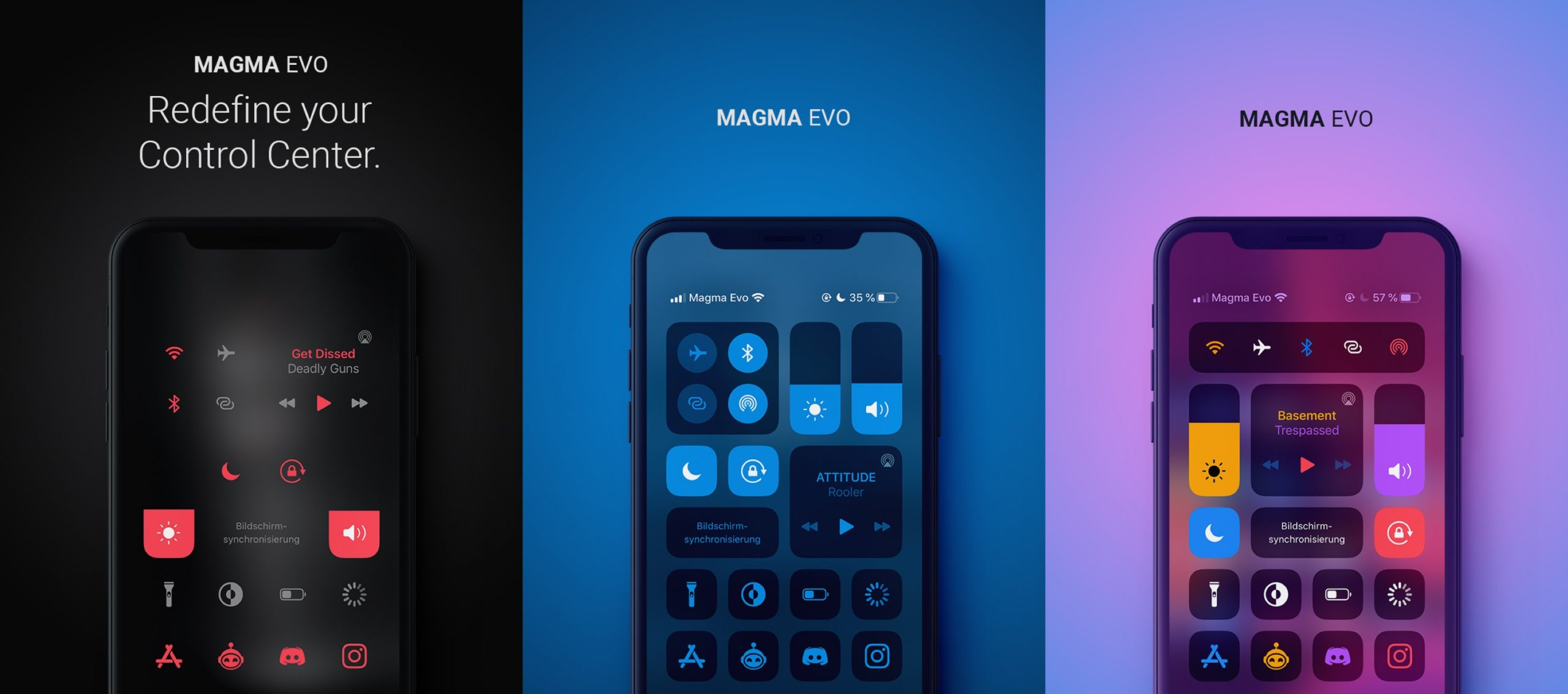 O Magma Evo permite personalizar a interface do Control Center 1