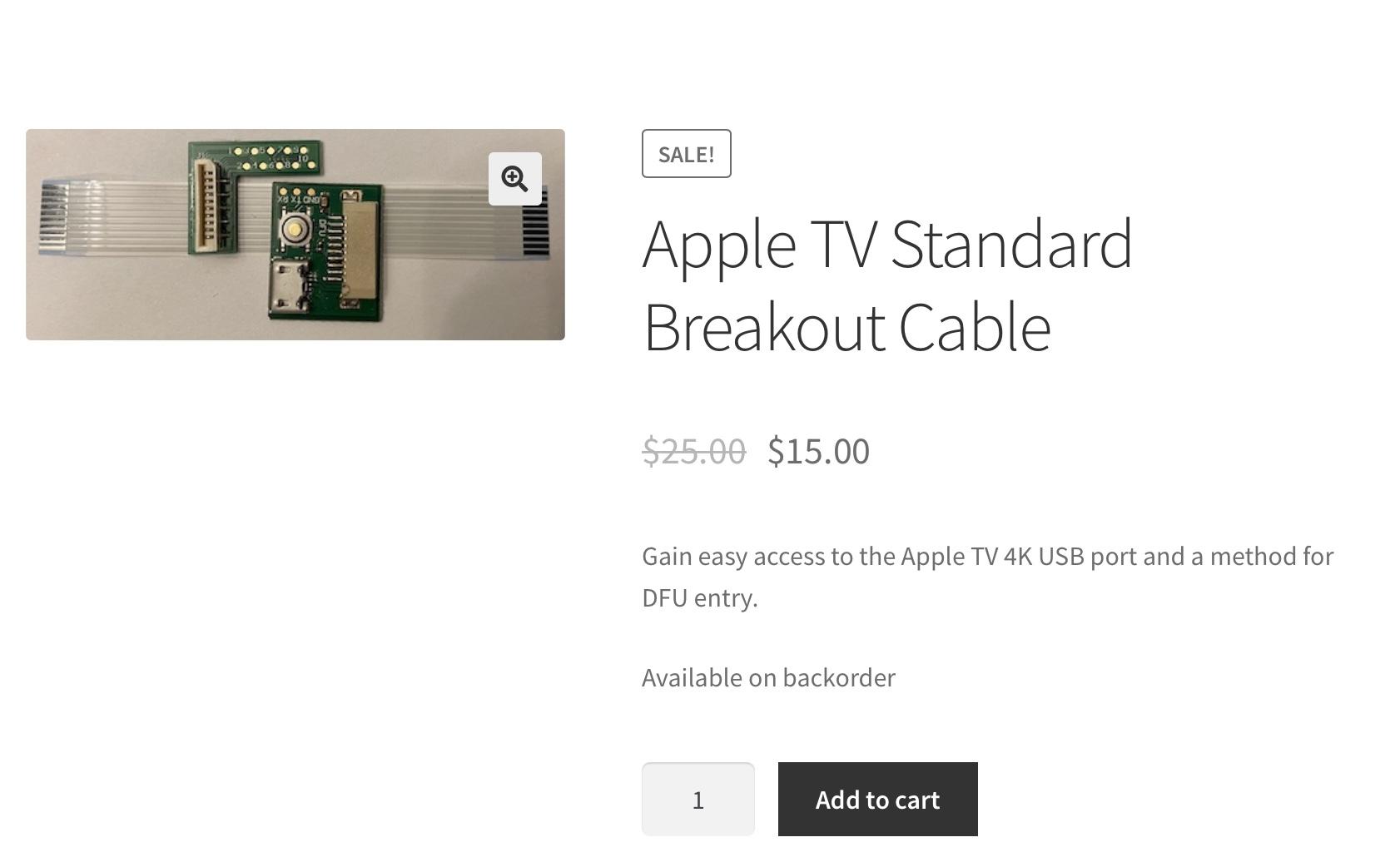 O novo cabo de solda supostamente permite a entrada no modo DFU em Apple TV 4K 1