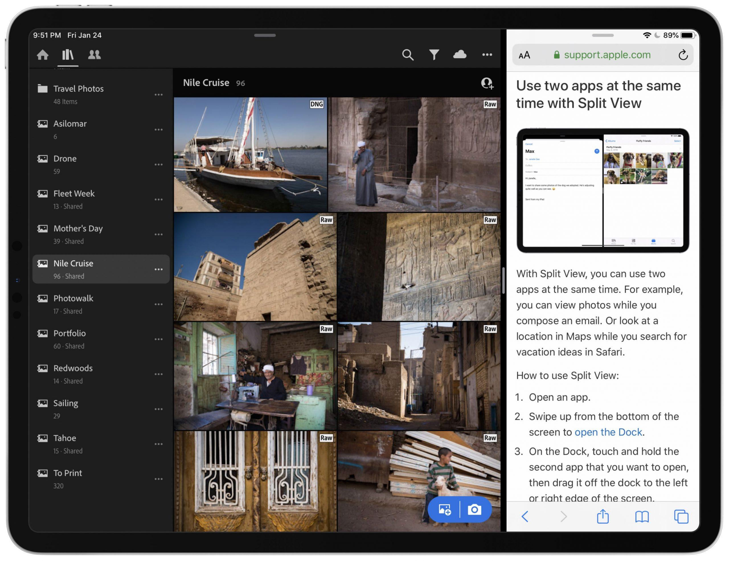 A Adobe traz novos recursos para o Lightroom, como o Split View no iPad e novas opções de exportação 3
