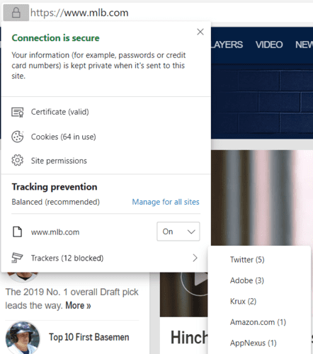 Edge Vs Chrome Trackers Blocked