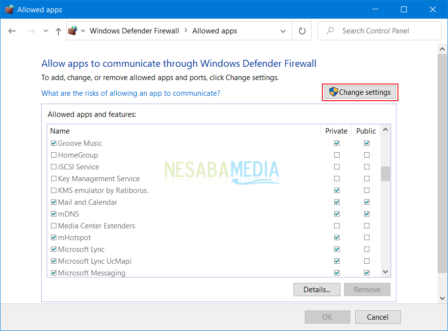 como superar Windows O firewall bloqueou alguns recursos deste programa windows 10