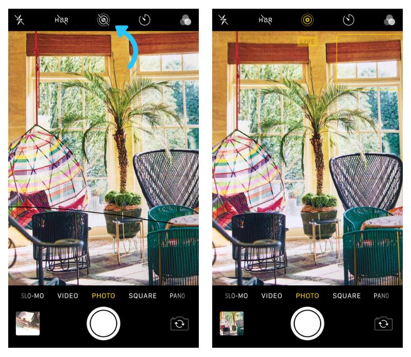 Instagram  Fotos: configurações de fotos ao vivo do iPhone