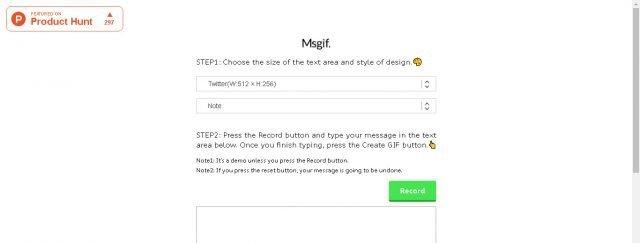 Crie imagens com texto animado gratuitamente com MsGIF 1