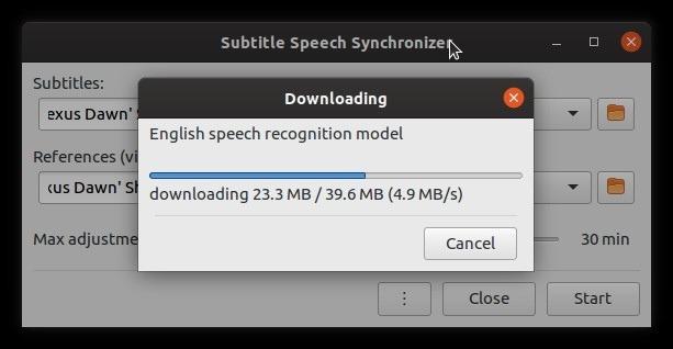 Corrigir legendas automaticamente com o arquivo de fala de subsincronização