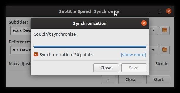 Corrigir legendas automaticamente com falha de subsincronização