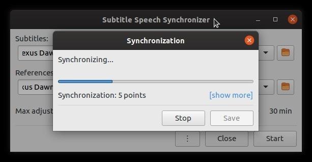 Corrigir legendas automaticamente com pontos de sincronização de subsincronização