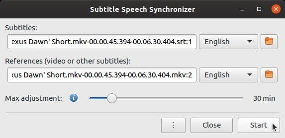 Correção automática de legendas com início de subsincronização