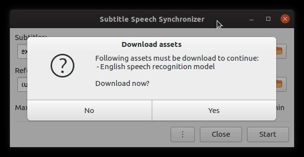 Corrigir legendas automaticamente com ativos de download de subsincronização