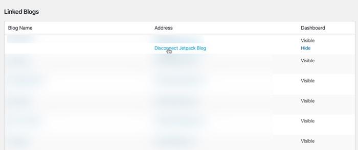 Como remover blogs vinculados da sua conta WordPress.Com 3