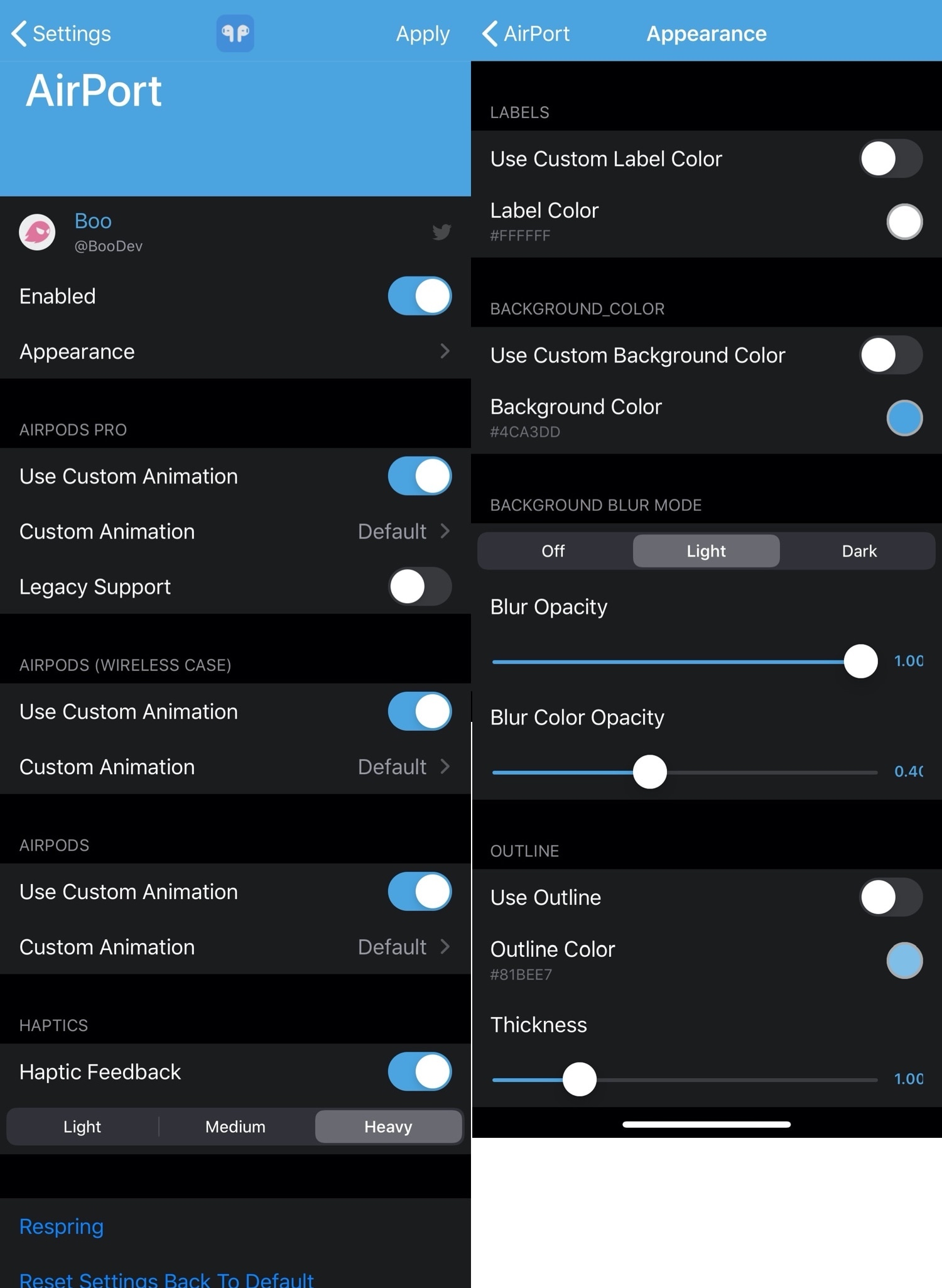 Esse novo ajuste permite colorir a interface de conexão AirPods / AirPods Pro 2