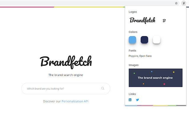 Obtenha logotipos, fontes ou cores em qualquer site com o Brandfetch 1
