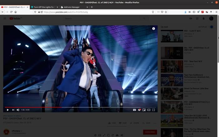 Firefox melhor Youtube desligar as luzes