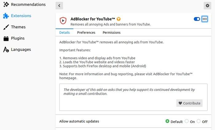 Firefox melhor Youtube Adblocker para Youtube