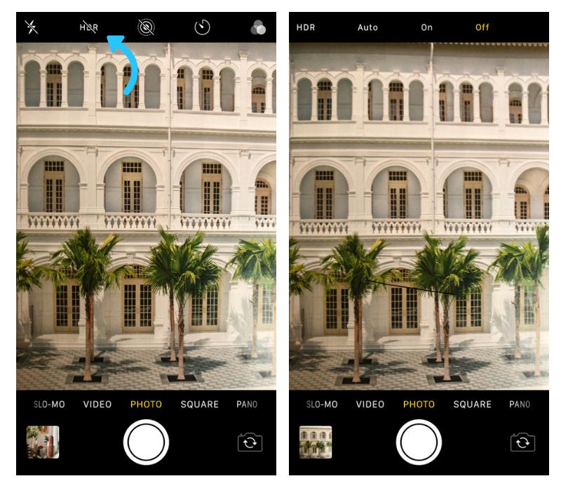 Instagram  Fotos: Configurações do iPhone HDR