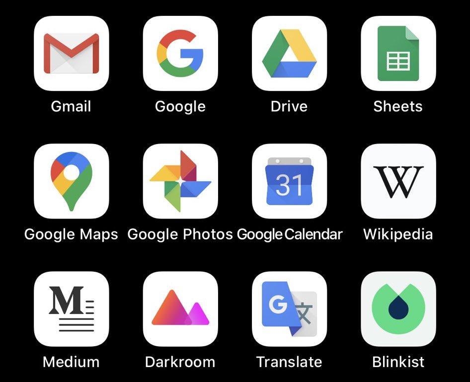 O iOS deve ativar automaticamente ícones de aplicativos brancos ou escuros quando o Modo escuro está ativado? 1