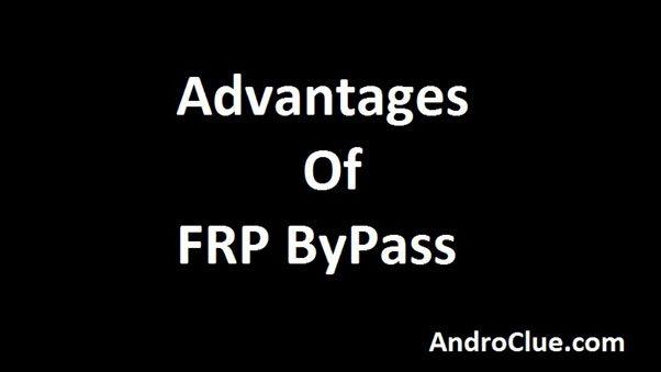 Quais são as vantagens do FRP ByPass?