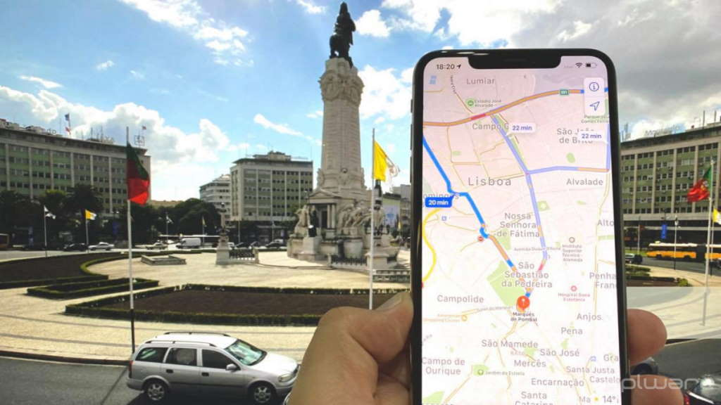 Apple Mapas trânsito transportes Google Maps