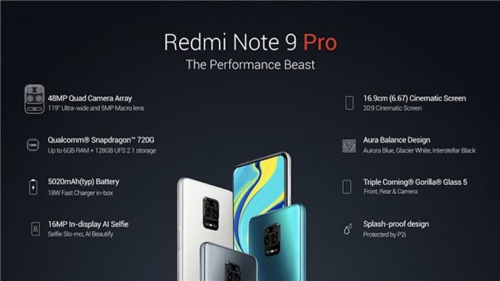Imagem Xiaomi Redmi Note 9  Pro