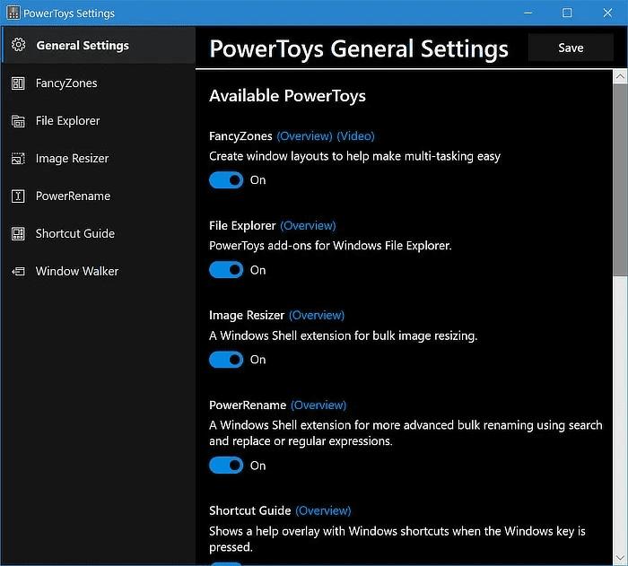 Adicionando funcionalidade ao Windows 10 de PowerToys 4