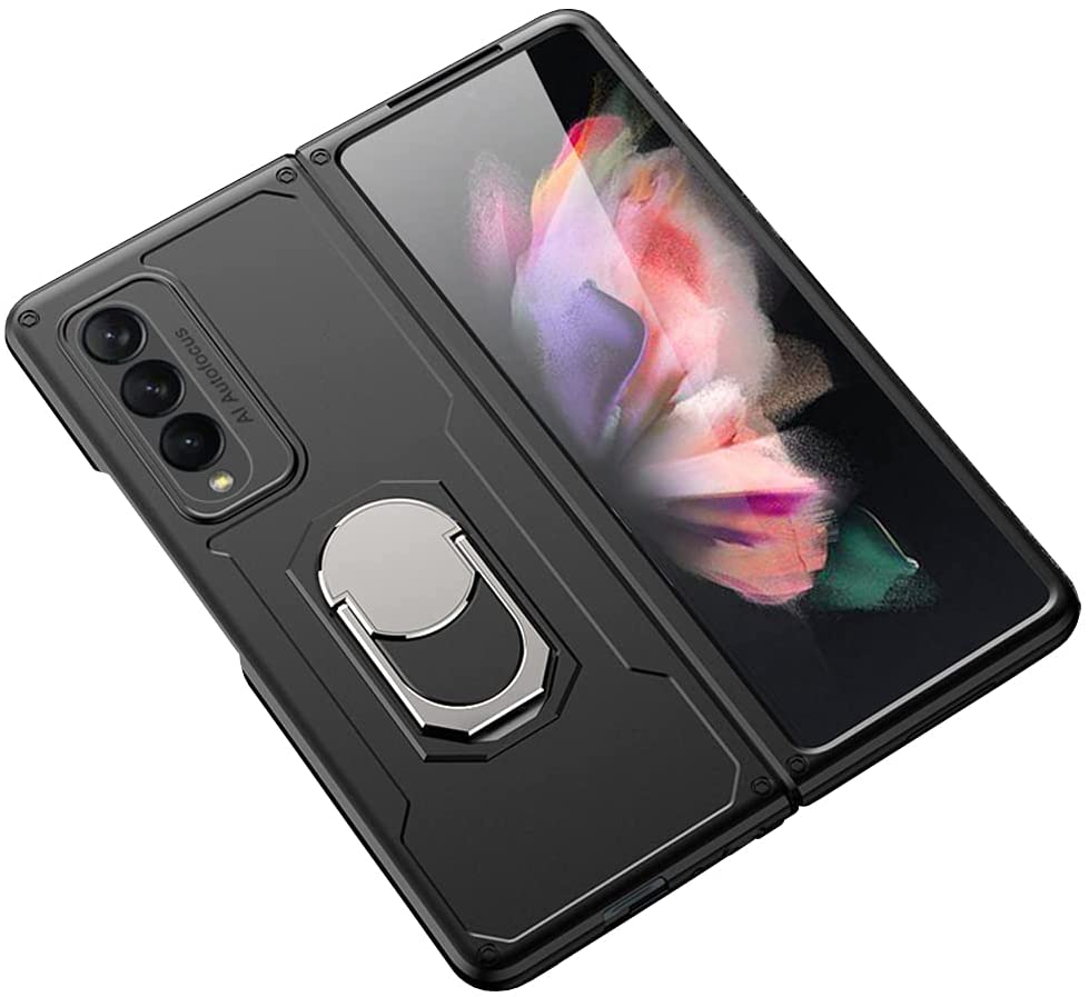 DOOTOO para Samsung Galaxy Z Fold 3  Case Luxury Hard PC Armor À Prova de Choque