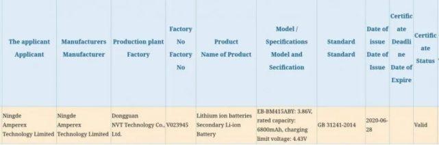 Em breve poderemos ver um Samsung Galaxy telefone com um 7Bateria de 000mAh 2