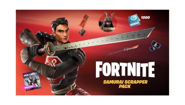 Fortnite Lança Novo Pacote de Cosméticos, Samurai Scrapper Pack;  Leitura 1