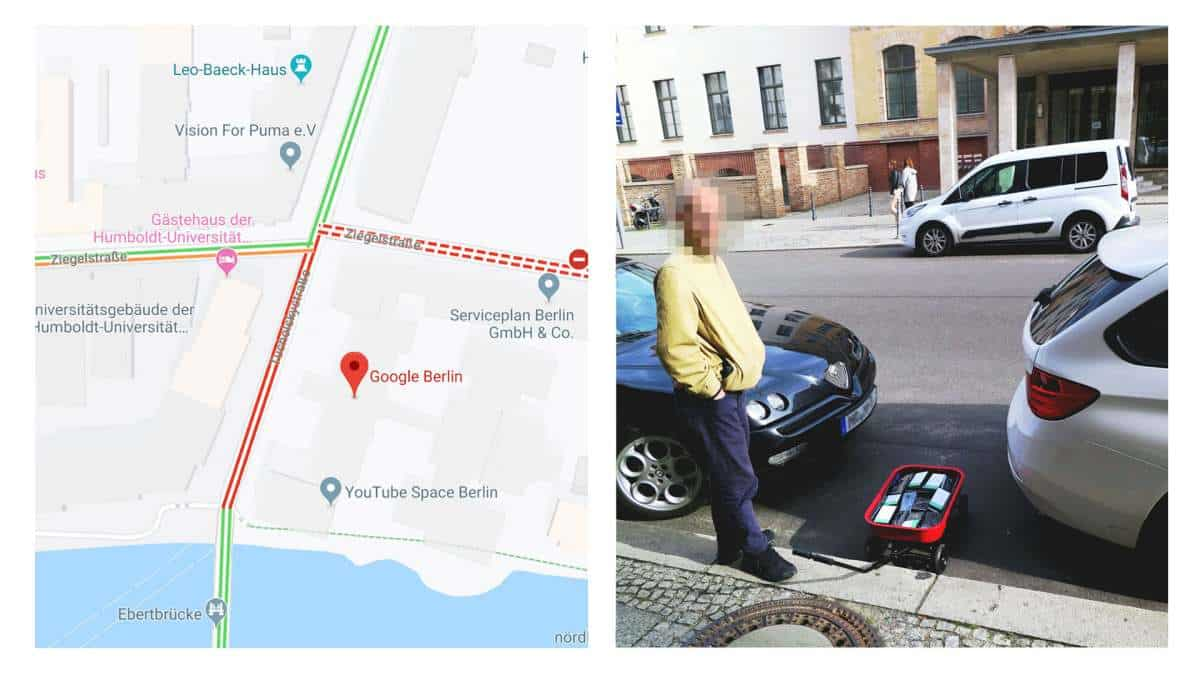 Homem usa 99 smartphones para hackear o Google Maps e criar um falso engarrafamento 1