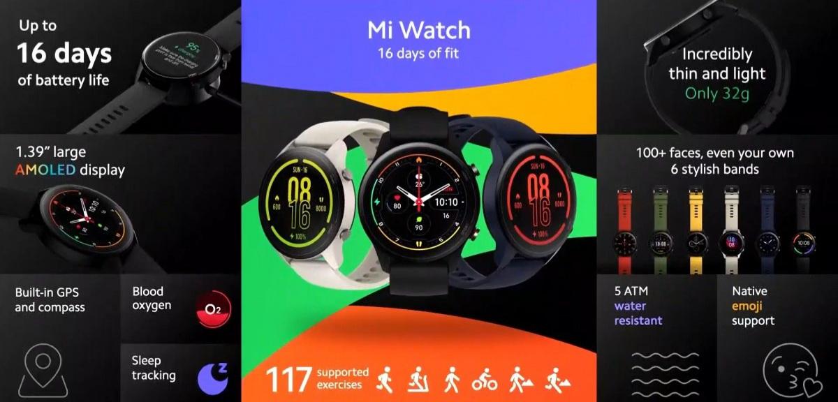 Mi Watch agora disponível na Europa com MIUI e SpO2 1