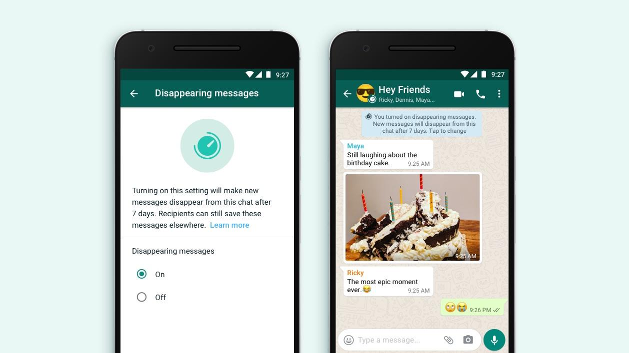 O recurso Mensagens desaparecendo do WhatsApp será lançado este mês 1