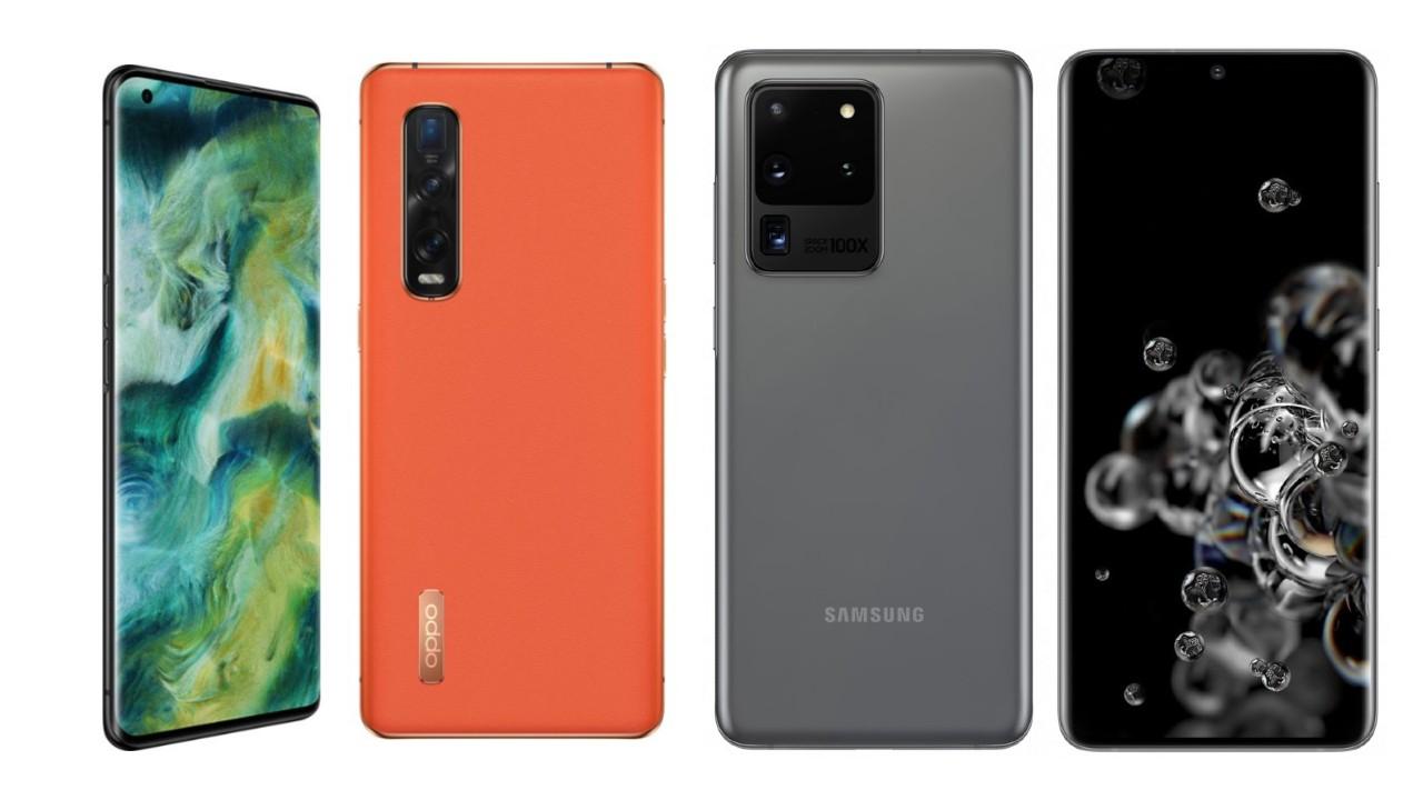 OPPO Encontre X2 Pro vs Samsung Galaxy S20 Ultra: comparação de especificações 1