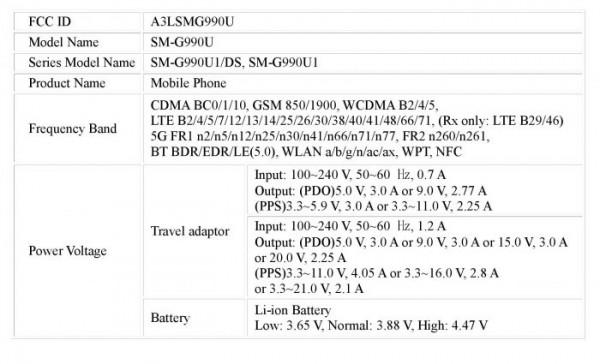 samsung-galaxy-s21-fe-fcc-Listing-charger