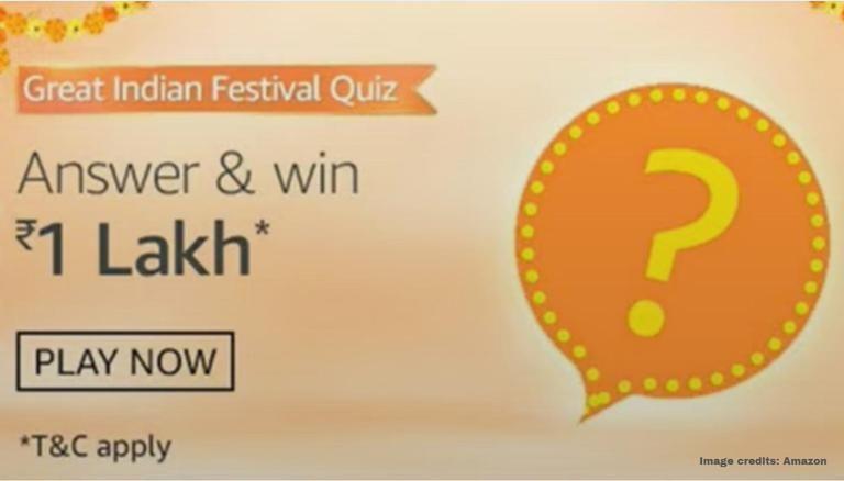Amazon Questionário sobre o Great Indian Festival, de 27 de setembro a outubro 6: Resposta para ter a chance de ganhar Rs 1 Lakh 1