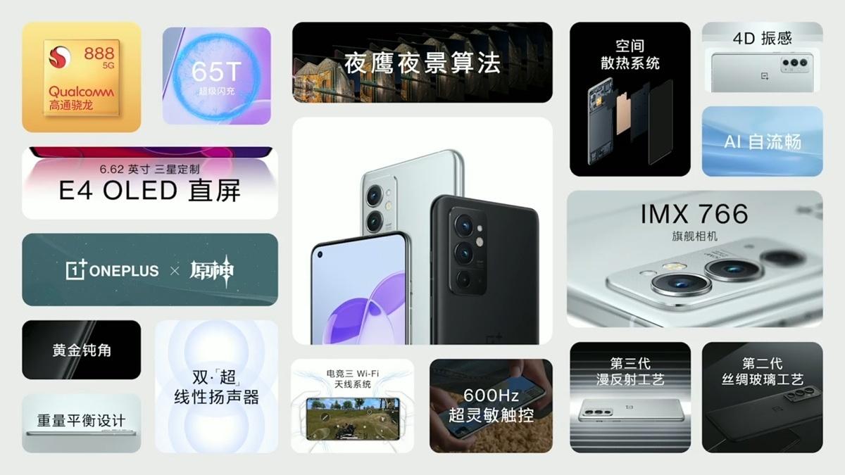 Especificações OnePlus-9RT