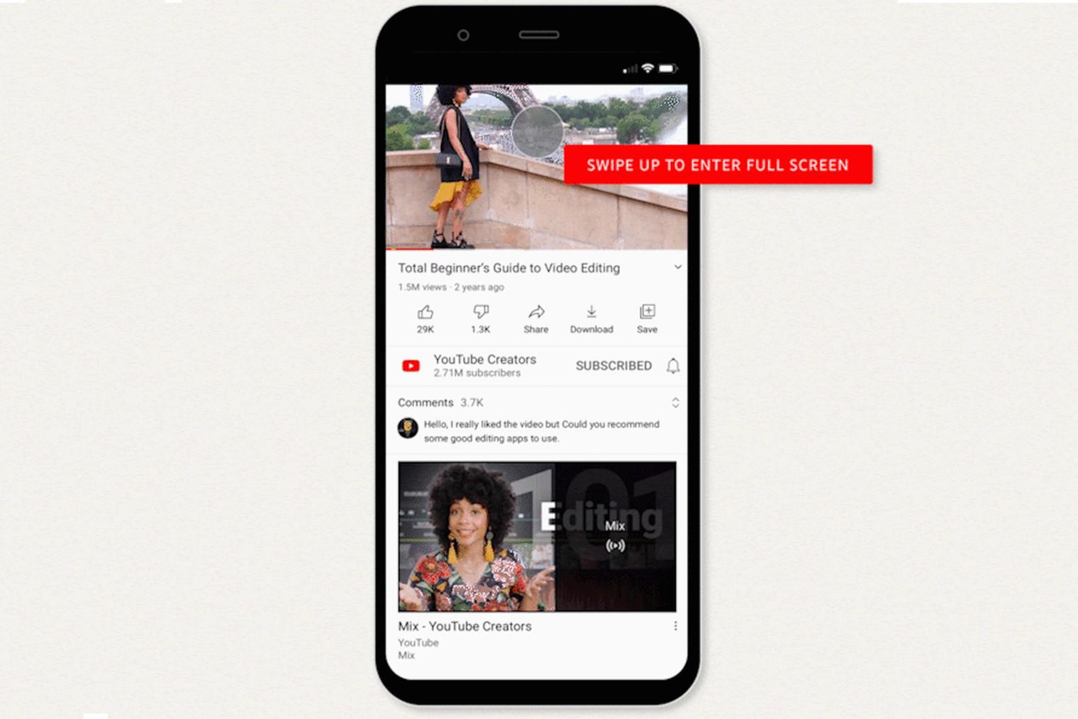YouTube traz novos gestos e controles de reprodução para seu aplicativo móvel 1